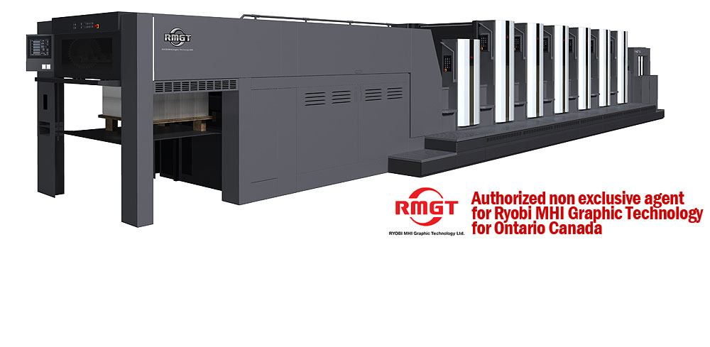 Authorized non exclusive agent for Ryobi MHI Graphic Technology for Ontario Canada
